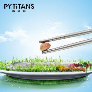 PYTITANS titanio Chopstick Solid Titanium Stick puro come regalo titanio di salute Chopstick