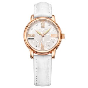 Часы женские DOM бренд элегантные ретро часы Модные женские кварцевые часы часы женские повседневные кожаные женские Наручные часы G-1028