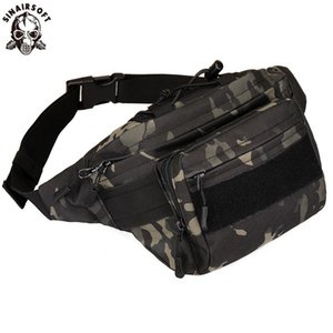 SINAIRSOFT Outdoor Tactical Multifunction cintura pack Combate Camping Esporte caça saco impermeável Athletic Chest Bags