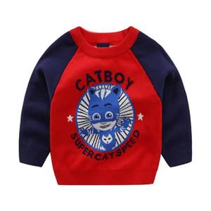Pure Cotton plus Velvet CHILDREN'S Sweater Children Korean-style Cartoon Sheriff Pullover Sweater BOY'S 2019 Autumn And Winter N