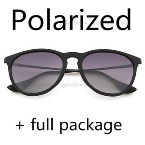 최고 품질 4171 선글라스 남성 여성 Erike 아이웨어 브랜드 디자이너 태양 안경 매트 레오파드 그라데이션 UV400 렌즈 박스 및 케이스 편광