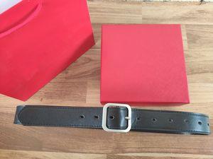 correa de la venta caliente mens de la correa de la hebilla de la aguja cinturones marrones suaves nuevas de la manera Negro para mujer y ceinture cinturón para el regalo con el rectángulo rojo envío libre