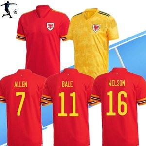S-4XL 2020 Wales Fußball-Trikot Euro Cup 2020 Wales Männer Kinder-Fußballhemd BALE JAMES maillot de foot RAMSEY T-Shirt