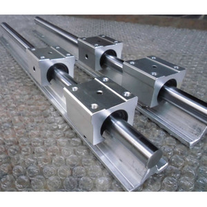 2 Sets SBR12 12mm fully support linear rail shaft rod + 4pcs SBR12UU linear bearing Linear Guides Cylindrical Rails Woodworking Sliders