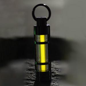 5 colori Nite Tritium Glowring Keychain Key Notte Automatica Luce Auto Luminoso Fluorescente Tub Tritium