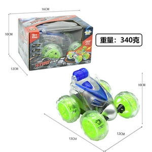 10pcs Wireless remote Flip car electric tumbling stunt graffiti remote control car Christmas gift kids competition toys