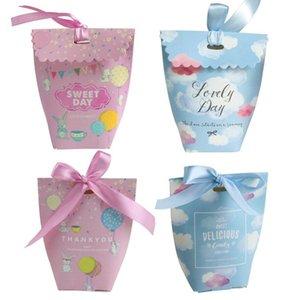 Tatlı düğün şeker torbaları kurdele sahipleri çikolata hediye çanta doğum günü partisi baby shower şeker kutuları lehine