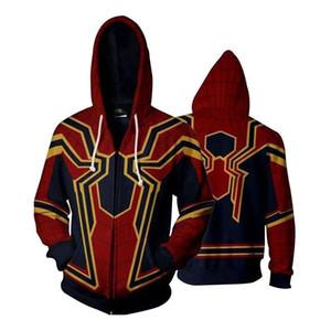 El superhéroe Spiderman 3 Vengadores de regreso a casa sudaderas con capucha de Halloween Hierro Venom Carnage Negro Pantera Casual delgada capa del equipo de la cremallera