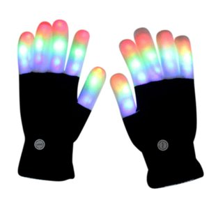 Novelty Party Glow Party Supplies Glowing Gloves Children LED Rave Flashing Warm Glove Light Up Finger Tip Lighting