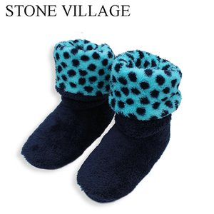 2018 New Patchwork Soft Plush Warm Home Slippers Sewing Handmade Floor Slippers Women Coral Fleece Indoor Shoes Women 3 Colros