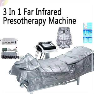 3 Em 1 Far Infrared Luz EMS Estimulação Air Pressure Slimming Suit Pressoterapia Contorno Corporal SPA Máquina