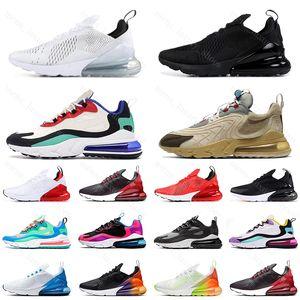 react 270 Triple Blanco Negro Para Hombre Para Mujer Zapatos Corrientes Regency Púrpura Be true Azul marino CNY Light Bone Mujeres Zapatillas de deporte Zapatos Tamaño 36-45