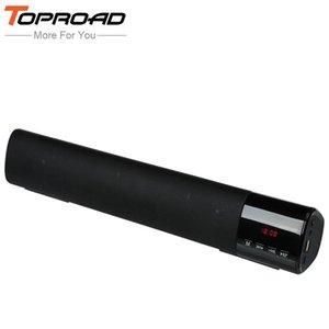Toproad большой мощности 10 Вт HiFi портативный беспроводной bluetooth динамик стерео саундбар ТФ ФМ с USB сабвуфер колонки для компьютера телевизора телефона T190704