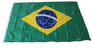 3x5 personalizado Brasil Flag Digital Printing poliéster Bandeiras Hanging Publicidade e Banners, o transporte da gota, frete grátis