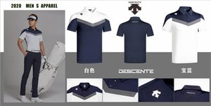 2020 Nouveau Q Hommes À Manches Courtes de sport descente Doux À Séchage Rapide Golf Polo Chemise 2 Couleurs Choix De Golf Vêtements Livraison Gratuite