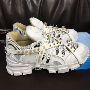 Роскошные дизайнерские туфли модный бренд Flashtrek кроссовки со съемными шипами новые приходят женщины мужчины обувь размер 35-45 модель RX01