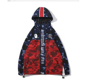 Love Sportwear Abrigo Cremallera Chándal Cremallera Sudadera de verano WGM Bordado Shark Red Hip Hop Hoodie Hombres Shark boca Chaqueta de abrigo