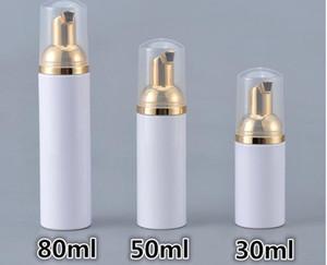 30/50/80 ml Espuma de plástico de botellas Botellas de jabón líquido Dispensador de Espuma Espumas Champú Loción Embotellado de espuma con la bomba de Oro