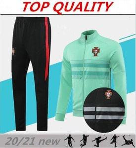 20/21 PORTUGAL chaqueta de chándal ropa de entrenamiento de Portugal entrenamiento de fútbol los pantalones del juego de fútbol de deportes de los hombres del suéter de conjunto