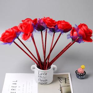 Hot vente New Arrival Rose Flower Stylo à bille bureau école de fournitures Stylos gel étudiants papeterie cadeau