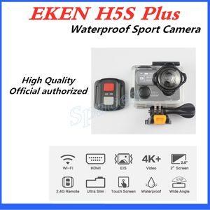 10pcs Original EKEN H5S plus Waterproof DV EIS Native 4K Ultra HD Sports Camera WIFI HDMI 170 Wide Angle 2.4G Remote