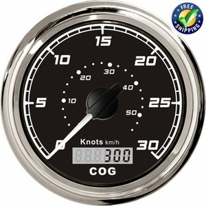 Marine 85mm GPS Speed Indicators Tuning 0-30Knots Speed Odometers 0-50km h GPS Speedometers Waterproof with Antenna Black