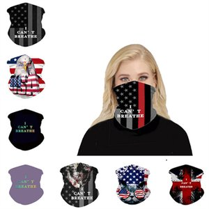 Magic I Cant Breathe Face Mask Sun-resistant Scarf American Flag Print Face Cover Outdoor Cycling Scarves Multifunction Masks Bandana 9Style