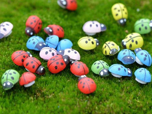 artificial mini lady bugs insects beatle fairy garden miniatures gnome moss terrarium decor resin crafts bonsai home decor