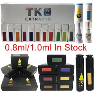 TKO Carts 0.8ml 1ml Ceramic Vape Cartridge TKO Sauce Glass Thick Oil Extracts Vape Cartridges 510 Thread Atomizer Wax Vaporizer E Cigarette