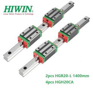 2 pz Originale Nuovo HIWIN HGR20 - 1400mm guida lineare / guida + 4 pz HGH20CA blocchi stretti lineari per parti del router di cnc