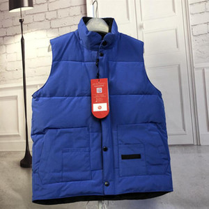 2020 Cadeau de Noël pour hommes Canada d'hiver en plein air chaud 60% Gilet en duvet d'oie veste de coton Gilets Manteaux 7 couleurs Taille S-XXL