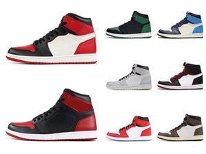 Plus récent venant Cdg X 1 Collab Boucle sangles Tirez Bague Hommes Femmes Chaussures de basket-1S Jumpman Des Garcons Sport Sneakers # QA846