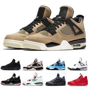 Box 4s seta Zapatos de baloncesto 4 hombres originales Bred 2019FIBA Pizzeria escoge día libre Negro gato para hombre entrenadores deportivos zapatillas de deporte 36-45