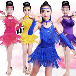 I bambini Carico Dance Show servire una giovanile Ragazze Carico Dance Performance partita Mostra abiti leggeri Drill nappe Gonna