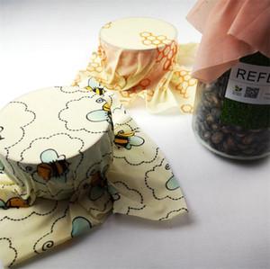Reutilizável cera de abelha Food Enrole cera de abelha Embalagem Outdoor Picnic Biodegradável Armazenamento embrulhar alimentos frescos Manter Capas Cozinha Organizador Bags