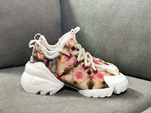 19SS Moda Hommes Kadınlar Tasarımcı Sneakers B21 Çorap D CONNECT Çiçek Sneakers Yaz Casual Kadınlar Marka Ayakkabı takozları Platformu Çizme