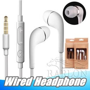 J5 Ecouteurs Casque Avec Micro In Ear 3.5mm Écouteurs Avec Contrôle Vocal Heatset Pour Samsung Galaxy S4 S6 S8 MP3 MP4 Avec Emballage