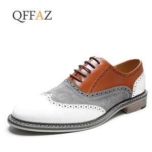 QFFAZ Scarpe basse da uomo Oxford Scarpe da uomo in pelle Chaussure Homme Dress Scarpe Uomo Casual Zapatos Hombre