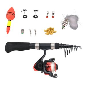 Fishing Kit Telescopic Fishing Rod And Reel Combos Hook Tackle Kit