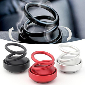 Двойное кольцо вращающееся автомобильное освежитель воздуха парфюмерные магнитные подвески автомобиля воздуха свежее аромат 360 градусов ротация ароматерапия украшения дома