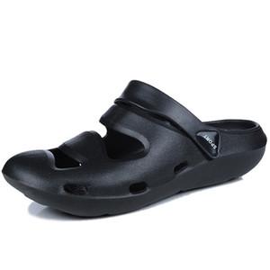 2019 hombres de verano sandalias de moda ahueca hacia fuera las zapatillas de playa transpirables zapatillas de masaje masculino zapatos de agua