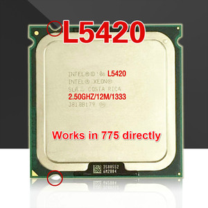 Cheap CPUs lntel Xeon L5420 2.5GHz 12M 1333Mhz CPU equal to Core 2 Quad Q9300 CPU works on LGA775 motherboard