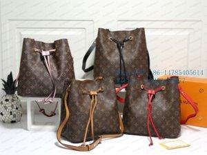 Top-44020 2020 New classic Bucket bag vintage leather versatile cross-body large capacity single-shoulder bag for women