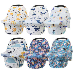La alimentación del bebé recién nacido del niño de enfermería cubierta lactancia materna privacidad de la bufanda del mantón de la cubierta de asiento de coche de bebé del cochecito del pabellón LJJA3772 Toalla