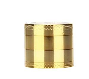 Altın Kaplama Para Şekil Sigara Değirmenleri Yuvarlak Çinko Alaşım Yuvarlak Ot Değirmeni 4 Katmanlar Duman Kırıcı Çapı 40mm 8yna E1