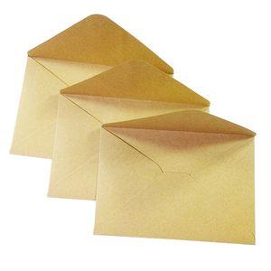 50Pcs Rough Grain Gift Card DIY Multifunction Kraft Paper Envelope Gift Card Envelopes for Wedding Birthday Party
