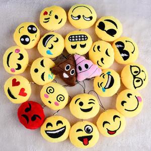 Mini almofada travesseiro QQ emoji pingente de pelúcia Chaveiro Bússola Jogos Emoji Smiley Pequeno pingente Emoção QQ Expression Stuffed Plush doll toy