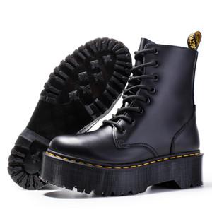 Spesso tacco donne Martin scarpe stivaletti genuino unico stivali di pelle di mucca muscolo lace up stivale tacco grosso per le signore zy8472 A18