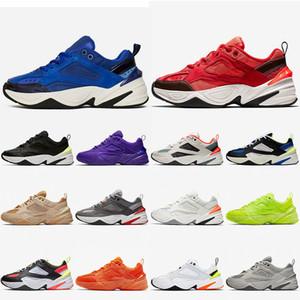Nike M2K TEKNO Air M2K Tekno Zoom 2K Kadın Erkek Koşu Ayakkabıları yarış Mavi Süet Kırmızı Hiper Yeşim Işık Kemik Volt Siyah Beyaz Eğitmenler Sneakers