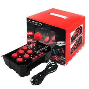 Nintend 스위치 PS3 PC 안드로이드 TV의 경우 4에서 1 개 USB 유선 게임 컨트롤러 아케이드 조이스틱 콘솔 게임 조이스틱 플러그 앤 플레이